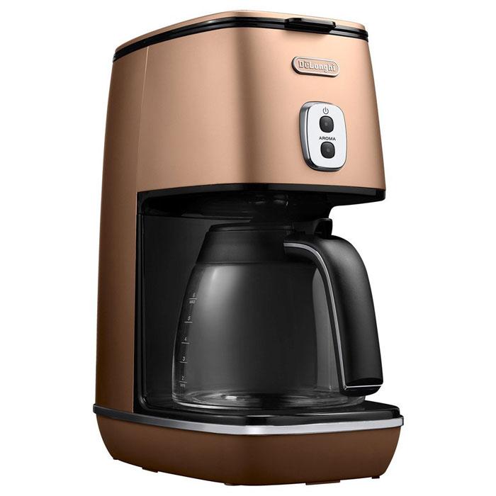 デロンギ ディスティンタコレクションドリップコーヒーメーカー (スタイルコッパー)( ICMI011J-CP ) 【 DeLonghi チタンコートフィルター コーヒーマシン 】