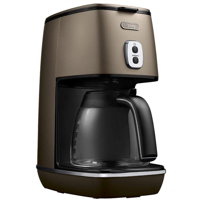 デロンギ ディスティンタコレクションドリップコーヒーメーカー (フューチャーブロンズ)( ICMI011J-BZ ) 【 DeLonghi チタンコートフィルター コーヒーマシン 】