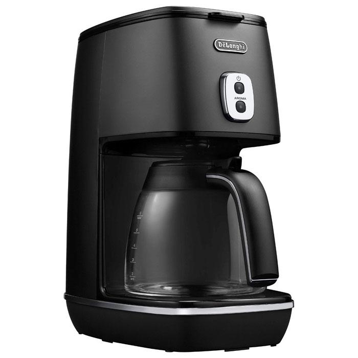 デロンギ ディスティンタコレクションドリップコーヒーメーカー (エレガンスブラック)( ICMI011J-BK ) 【 DeLonghi チタンコートフィルター コーヒーマシン 】