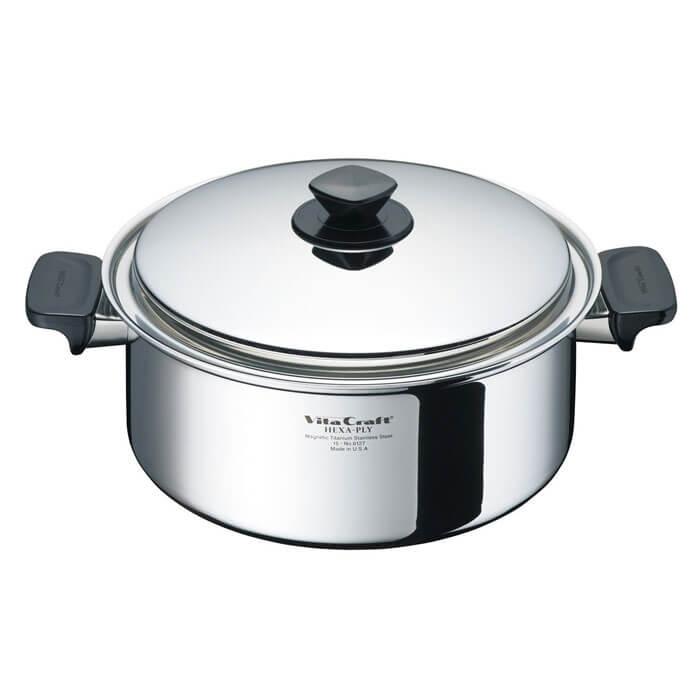 ビタクラフト ヘキサプライ 両手ナベ 5.5L 6127 vitacraft 調理器具 キッチン ステンレス 両手鍋