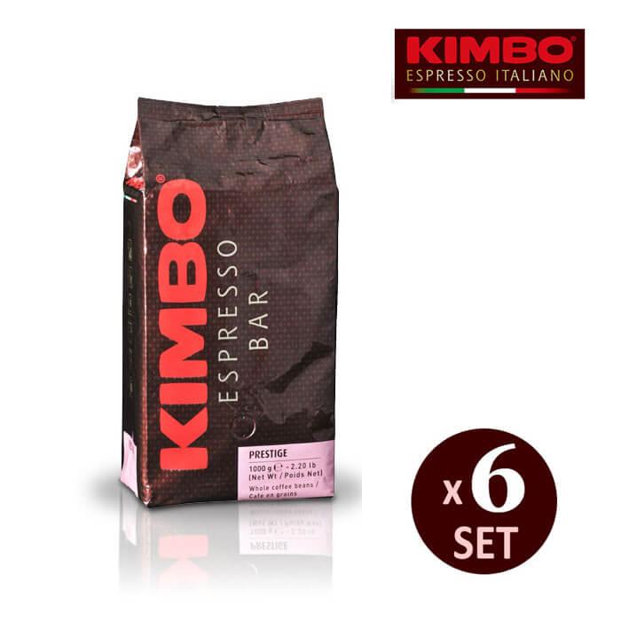 キンボ エスプレッソ粉 プレステージ 1kg ×6袋入り 【 KIMBO コーヒー エスプレッソ 粉 豆 アロマ イタリア ナポリ 】