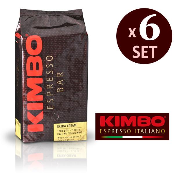 キンボ エスプレッソ粉 エキストラクリーム 1kg ×6袋入り 【 KIMBO コーヒー エスプレッソ 粉 豆 アロマ イタリア ナポリ 】