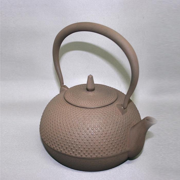 池永鉄工 南部鉄瓶梔子1.2L (茶) 【 くちなし 鉄器 】
