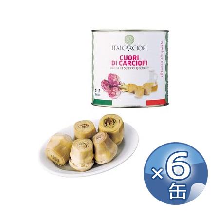 イタルカルチョーフィ カルチョフィの芯・オイル漬け 2.5kg×6缶 《food》 【 Italcarciofi Cuori di Carciofi in Olio 】