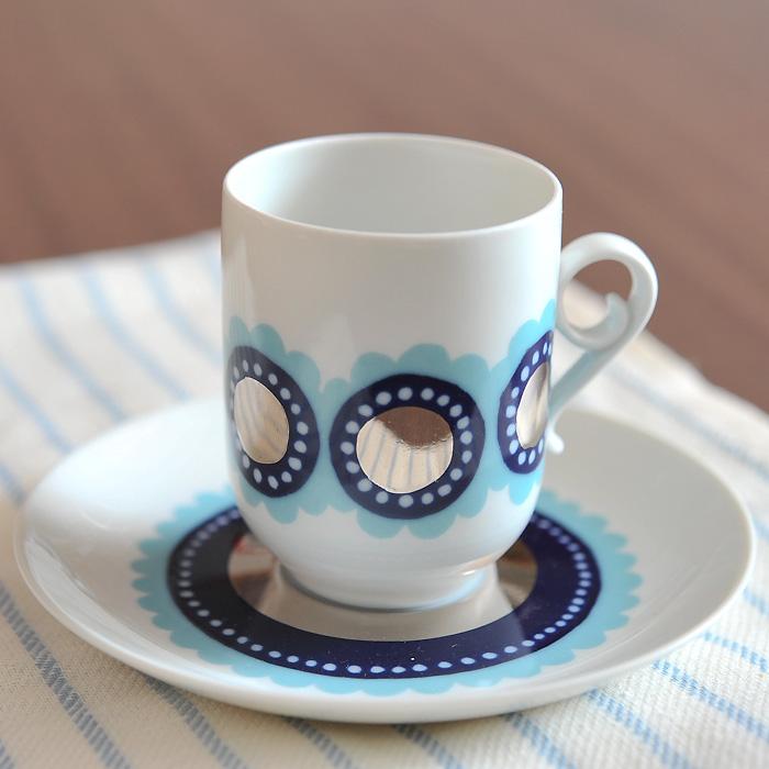 【期間限定SALE特価!】アラビア arabia Tanja タニア カップ&ソーサー ビンテージ vintage ヴィンテージ (ブルー)