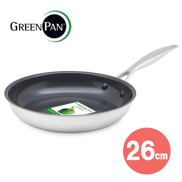 【ポイント10倍!】 グリーンパン Greenpan VENICE PRO ヴェニス プロ エバーシャインフライパン 26cm IH対応 ステンレス
