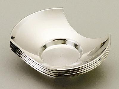 [ 送料無料 ] 大阪錫器 茶托 麿 分銅形 [ 桐箱入り 茶たく ] 3.0 [ アドキッチン ]