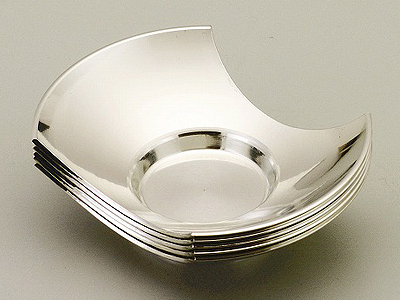 [ 送料無料 ] 大阪錫器 茶托 麿 分銅形 [ 桐箱入り 茶たく ] 3.3 [ アドキッチン ]
