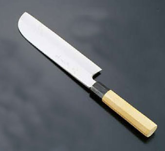 堺 孝行 シェフ和庖丁 銀三鋼 鎌型薄刃(片刃)24cm【smtb-tk】