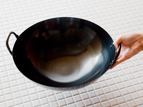 鉄 ヘラ絞り 広東鍋 <48cm>