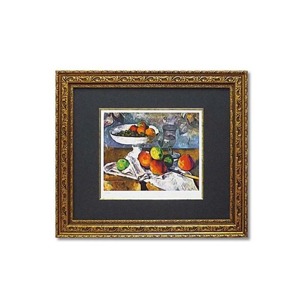 ユーパワー ミュージアムシリーズ(ジクレー版画) アートフレーム セザンヌ 「果物ナイフのある静物」 MW-18066