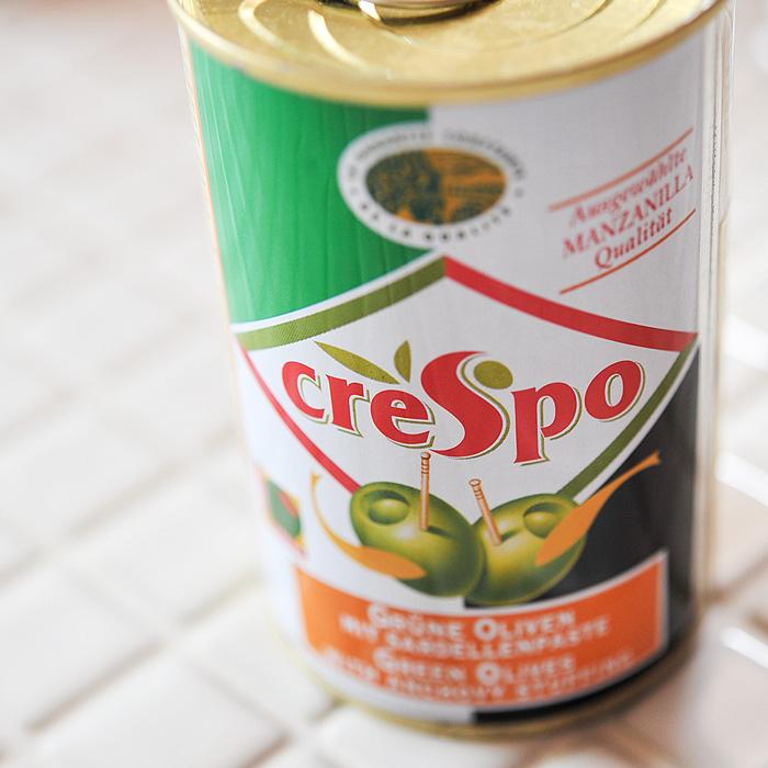 【当店おすすめ食材】crespo/クレスポ スタッフドオリーブ アンチョビ (缶) 【グリーンオリーブ】 《food》<120g>【 ※ご注文後のキャンセル・返品・交換不可。 】