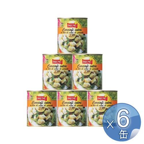 【箱入りセットでお買い得】Menu/メニュー社 カルチョーフィの芯・オイル漬け 780g<12缶セット>