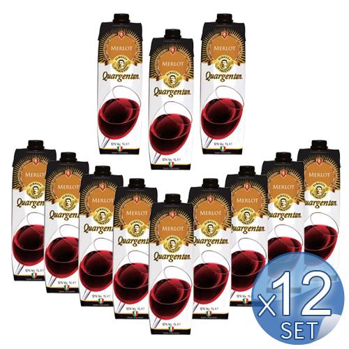 【箱入りセットでお買い得】クアルジェンタン社 テトラ・プリズマ メルロー1l<12本セット>