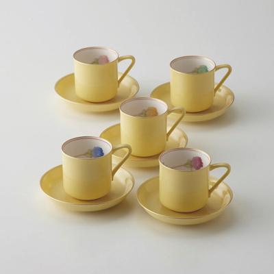 香蘭社 ブライトローズ 珈琲碗皿5客揃(Y1195-HCG)【日本製】【 アドキッチン 】