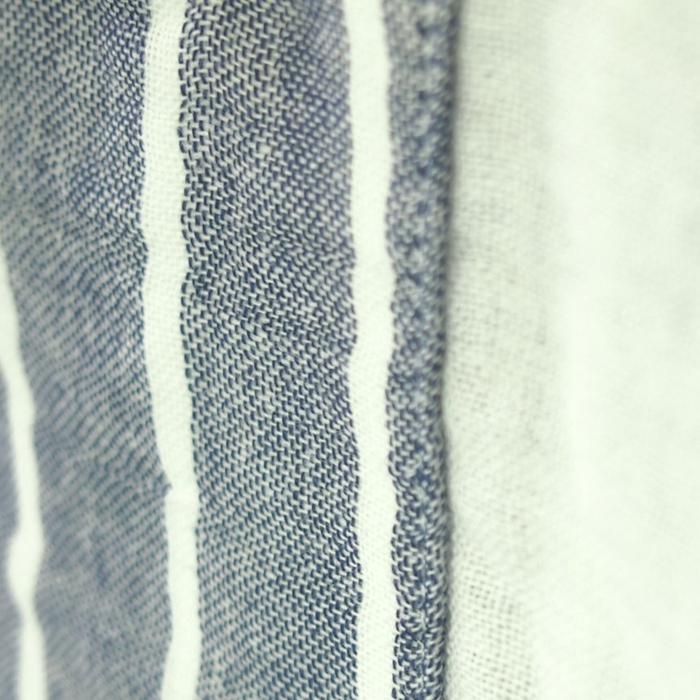 ウチノ マシュマロ ガーゼ ワイドストライプ レディスパジャマ Sサイズ ダークブルーRPZ18059 S DB 【 内野 uchino ねまき ルームウェア 】