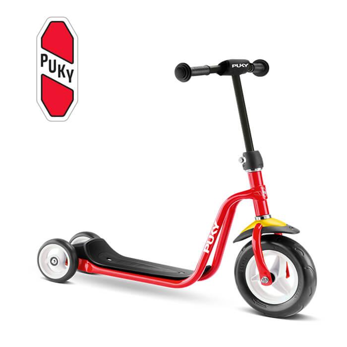 Puky R 1 チルドレン三輪スクータ レッド 5174 ドイツ 子供用 おもちゃ 乗り物