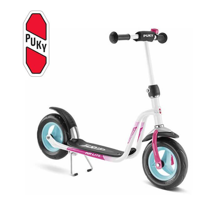 Puky R 03 チルドレンスクーター ホワイト/ピンク 5342 ドイツ 子供用 おもちゃ 乗り物
