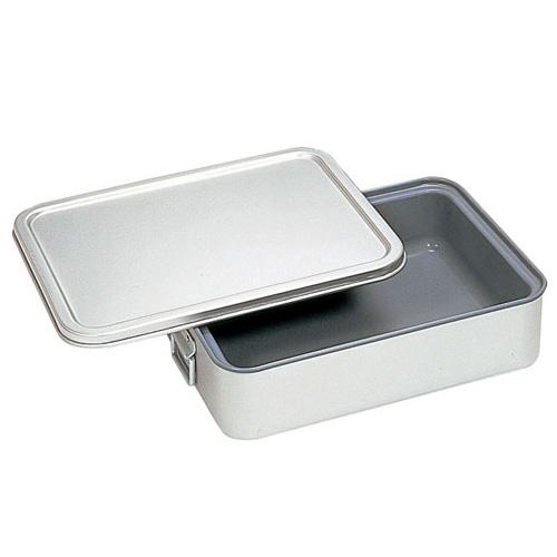 アルマイト 角型二重米飯缶 (蓋付) (内面スミフロン) 264-DS(264-DS)【 アドキッチン 】