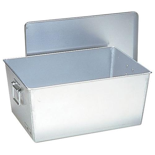 アルマイト 給食用パン箱深型 (蓋付) 257 45個入(257)<45個入>