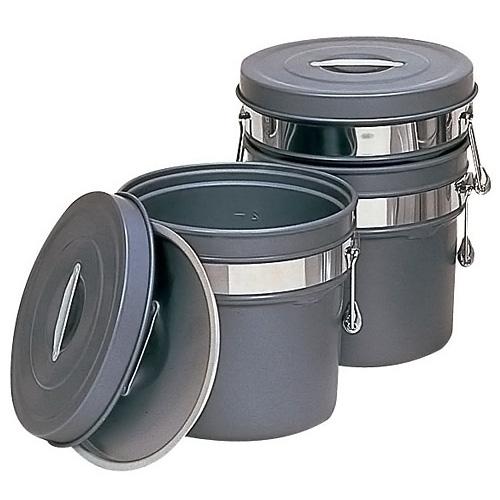 段付二重食缶 (内外超硬質ハードコート アルマイト仕上) 246-H (8L)(246-H )<(8L)>【 アドキッチン 】