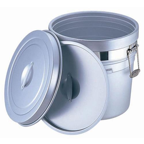 アルマイト 段付二重食缶 (大量用) 250-A (20L)(250-A )<(20L)>