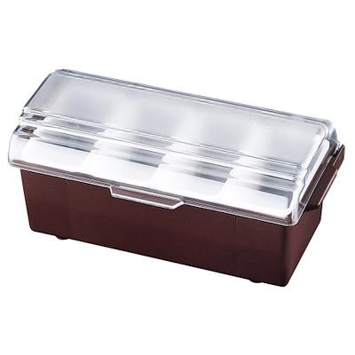 コンジメント ディスペンサー インサートパン レギュラータイプ 4741 4ヶ入 ブラウン(4741)<4ヶ入>【 アドキッチン 】