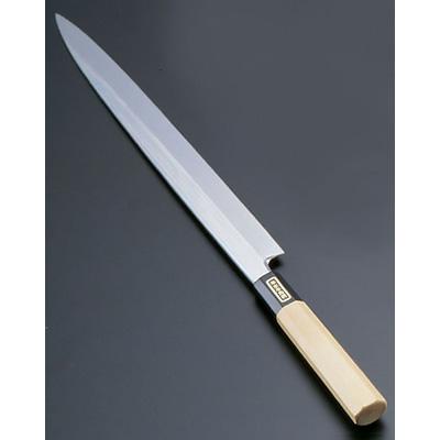 SA 佐文 本焼 鏡面仕上 柳刃 (木製サヤ付)(片刃) 33cm<33cm>