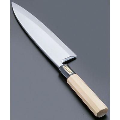 SA 佐文 本焼 鏡面仕上 出刃 (木製サヤ付)(片刃) 21cm<21cm>