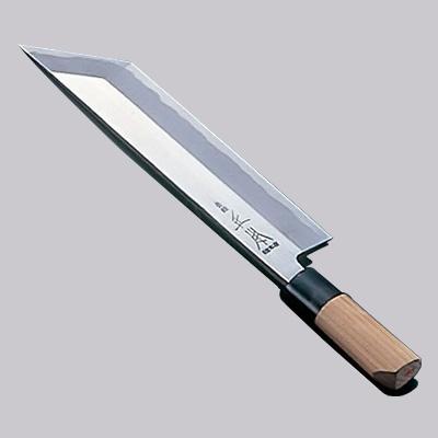 正本 本霞・玉白鋼 鰻サキ(片刃) 庖丁 18cm<18cm>