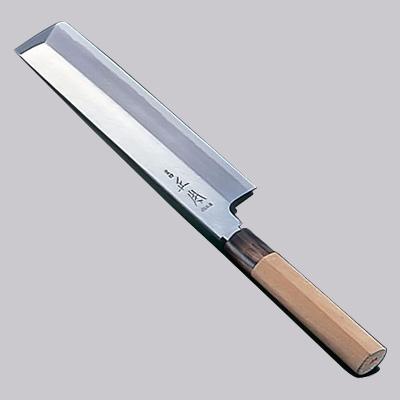 正本 本霞・玉白鋼 東型薄刃(片刃) 庖丁 22.5cm<22.5cm>