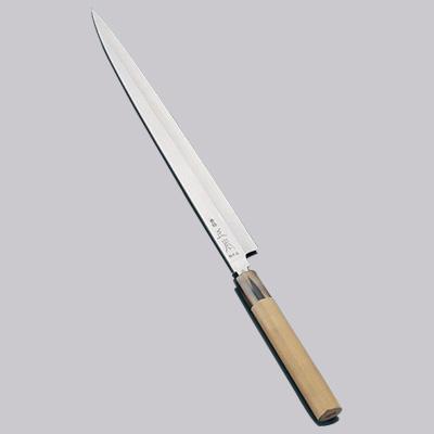 正本 コバルト鋼 フグ引刺身(片刃) 包丁 27cm<27cm>
