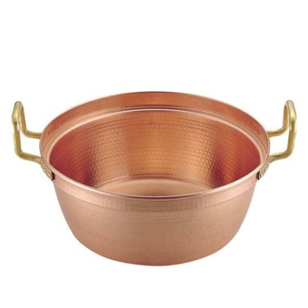 SA 銅 円付鍋 両手(錫引きなし) 48cm<48cm>