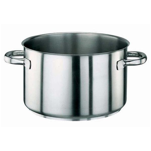 パデルノ 18-10 半寸胴鍋 (蓋無) 1007-22(1007-22)<22cm>