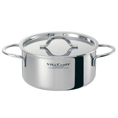 ビタクラフト ( VitaCraft ) 18-10 コロラド 両手鍋 No.2505 22cm(No.2505)<22cm>【 アドキッチン 】