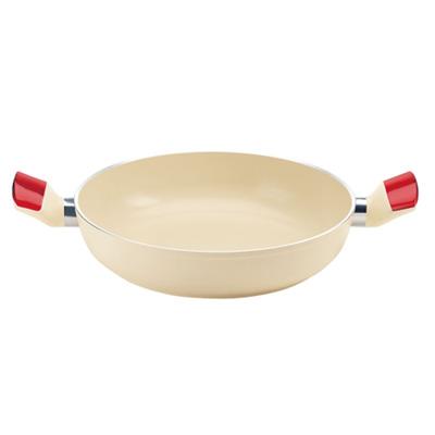 グッチーニ IH セラミックコート浅型両手鍋 24cm2280.1065 RD(2280.1065)<24cm/レッド>