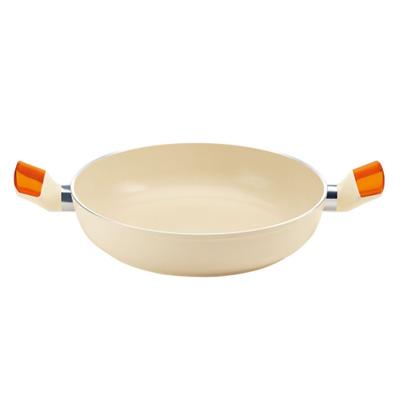 グッチーニ IH セラミックコート浅型両手鍋 28cm2280.1145 OR(2280.1145)<28cm/オレンジ>