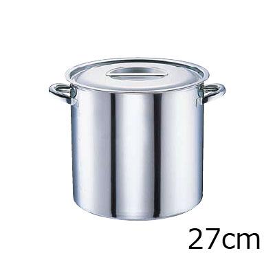 電磁モリブデン 寸胴鍋 目盛付 27cm