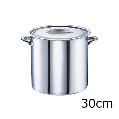 電磁モリブデン 寸胴鍋 目盛付 30cm