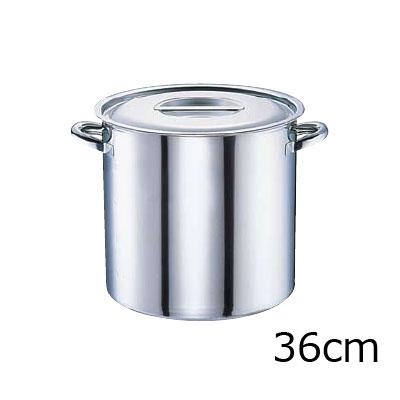 電磁モリブデン 寸胴鍋 目盛付 36cm