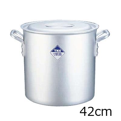 TKG 寸胴鍋 アルミニウム (アルマイト加工) (目盛付) 42cm