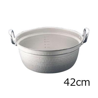 エコクリーン マイスターアルミ極厚円付鍋 42cm