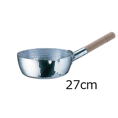 アルミ 本職用 手打雪平鍋 (3mm厚) 27cm