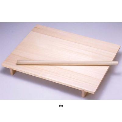 木製 のし板 めん棒付 (桐材) 中 <中>