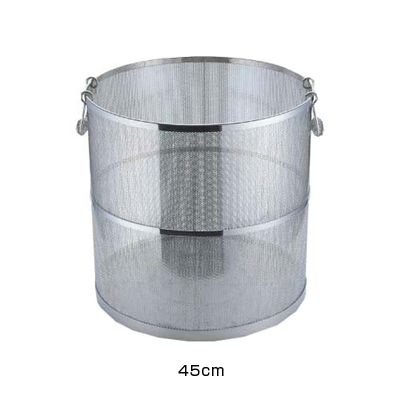 エコクリーン UK 18-8 パンチング丸型スープ取ざる 45cm用 <45cm用>