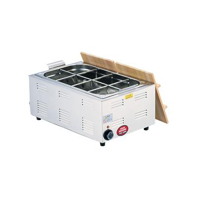TKG 湯煎式 電気おでん鍋 6ッ切 572×366×H230mm