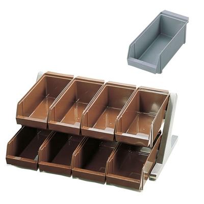 SA 18-8 デラックス オーガナイザー 2段4列(8ヶ入) 550×440×230mm <グレー>【 アドキッチン 】
