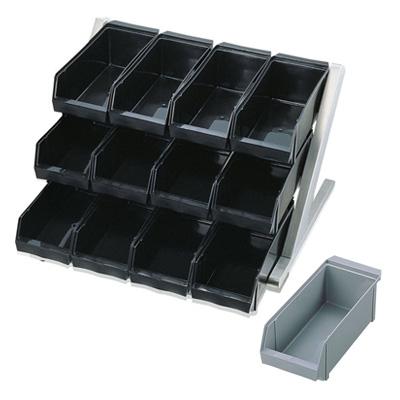 SA 18-8 デラックス オーガナイザー 3段4列(12ヶ入) 565×550×345mm <グレー>【 アドキッチン 】