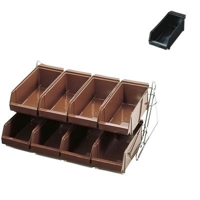 SA スタンダード オーガナイザー 2段4列(8ヶ入) 540×480×250mm <ブラック>【 アドキッチン 】