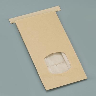 クラフト窓付きティンタイ袋(ワイヤー付) M(400枚入)【 アドキッチン 】
